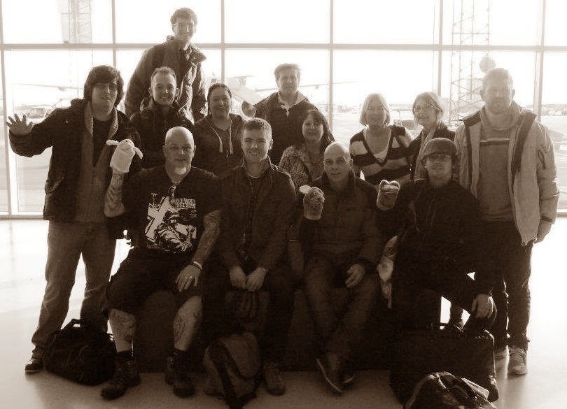 The mobility group on arrival in Copenhagen.