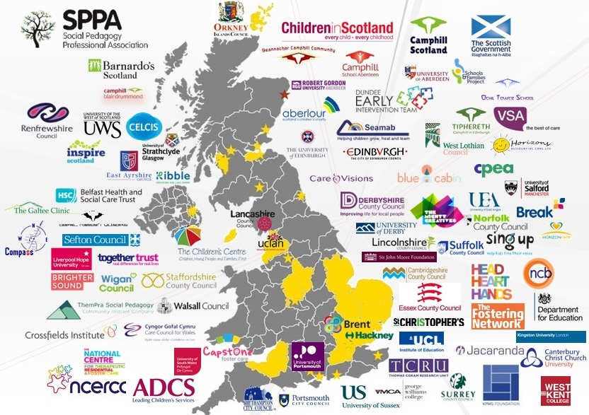 Map Of Uk 2017.Overview Of Social Pedagogy In The Uk Thempra Social Pedagogy